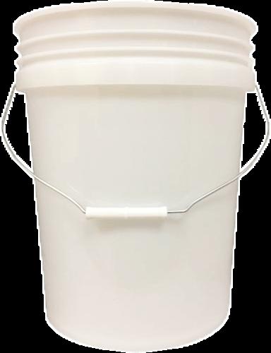 Grit Guard Bucket White / Semi Tran