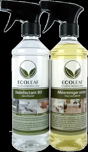 EcoLeaf Desinfectie Bundel (Reiniger + Desinfectant 80)