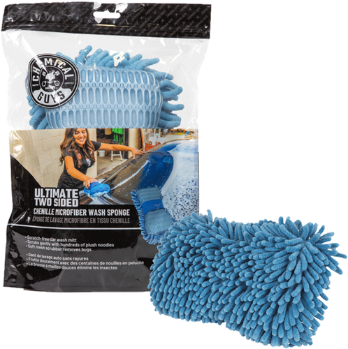 Chemical Guys Ultimate Two Sided Chenille Spons Blauw