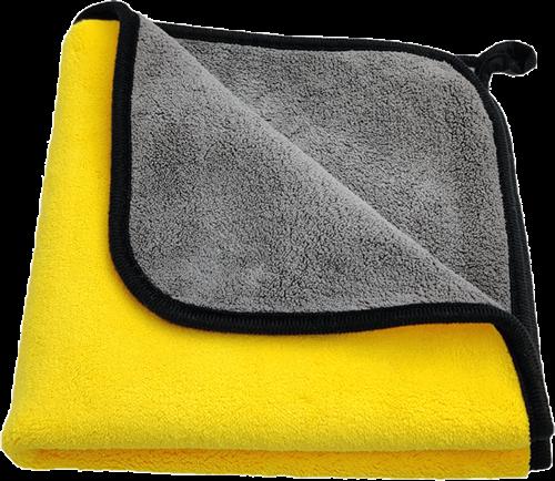 Coral Velvet Towel Yellow/Grey